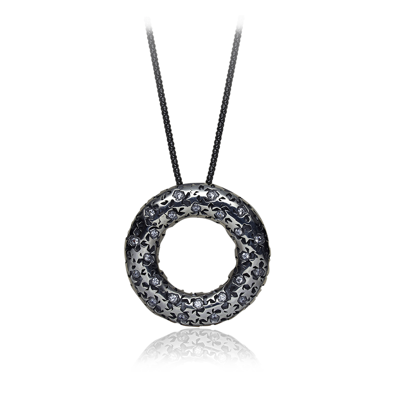 NecklaceSilver 925|000Black rhodium platedCZ