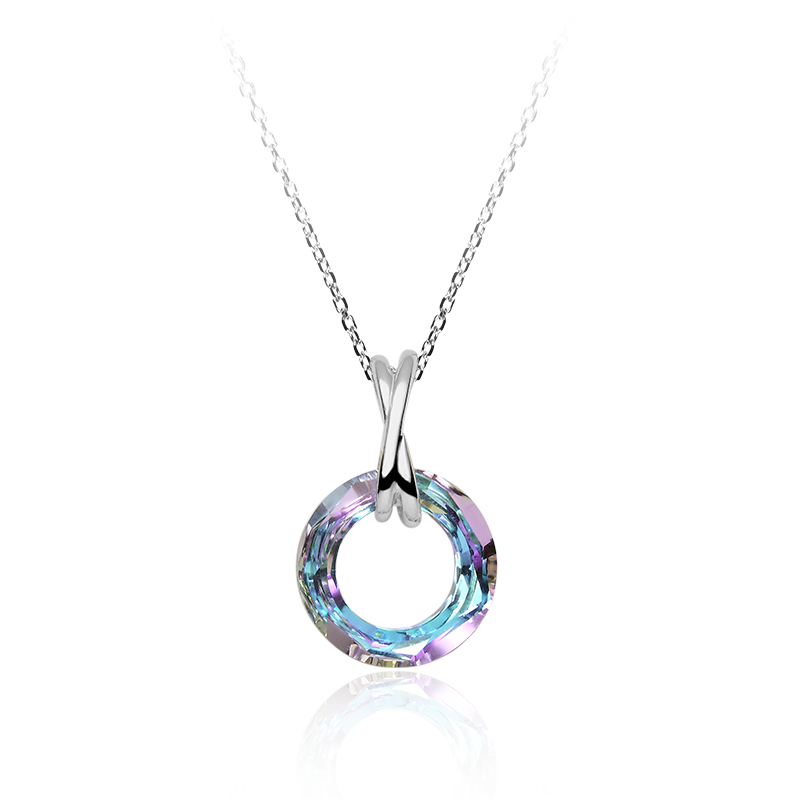 NecklaceSilver 925/000Rhodium platedSwarovski crystalfi 20 mm - 1x
