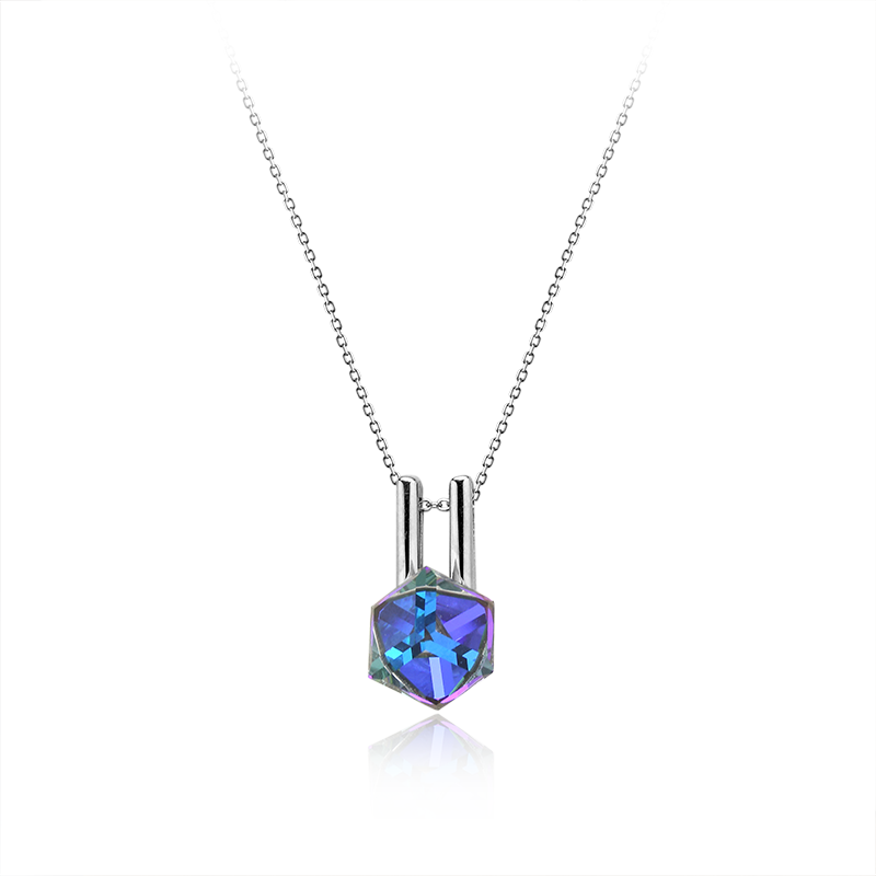 NecklaceSilver 925/000Rhodium platedSwarovski crystal fi 8 mm - 1 x