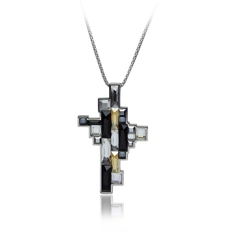 OgrlicaSrebro 925/000RodiniranoSwarovski kristal - 20 x