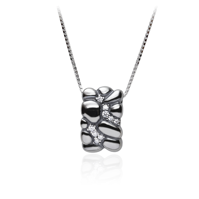 NecklaceSilver 925/000Black rhodium platedCz