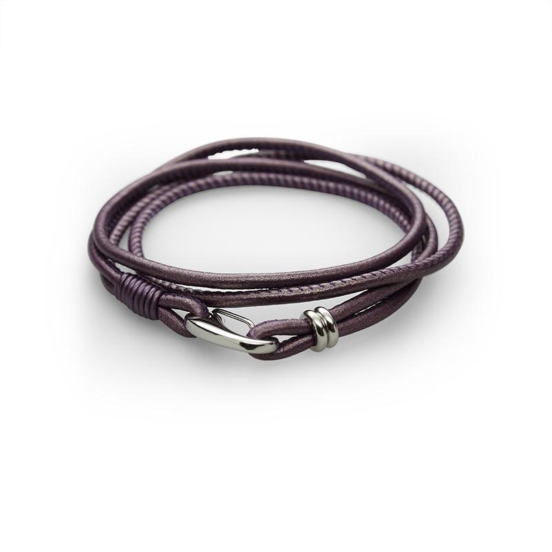 Braceletleather + stainless still