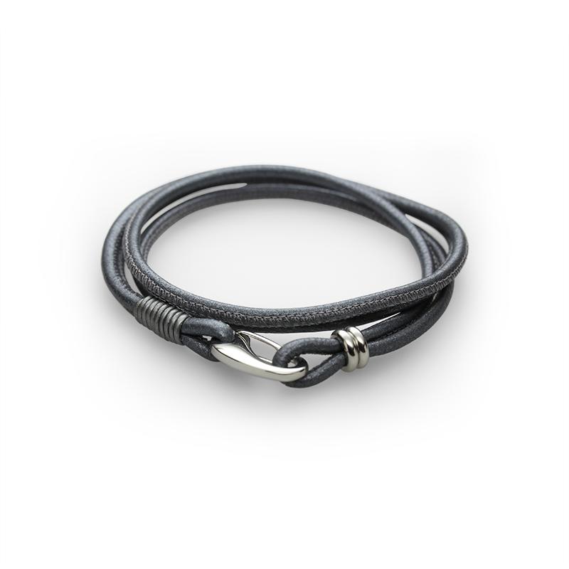 Braceletleather + stainless steel