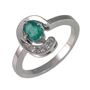 diamant 0,01 ct - 3 x; smaragd oval6 x 4 mm - 1 x