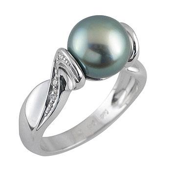 biser tahiti 8-8,5 mm-1x, diamant 0,005 ct - 8x