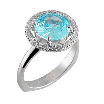 diamant 0,01ct - 25x, modri topaz 10 mm -1x