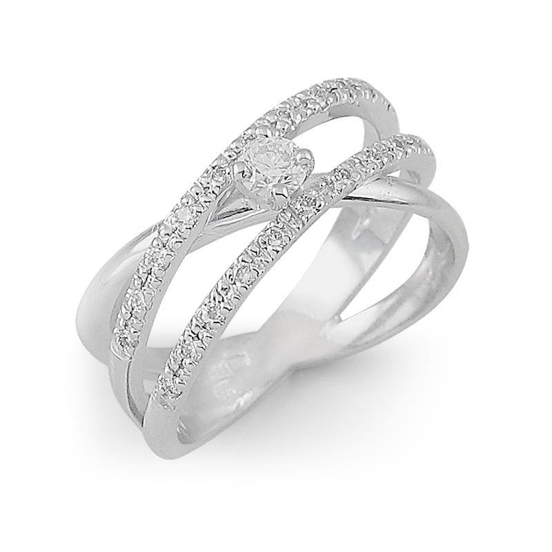 diamant 0,20 ct - 1x, 0,01 ct - 22x