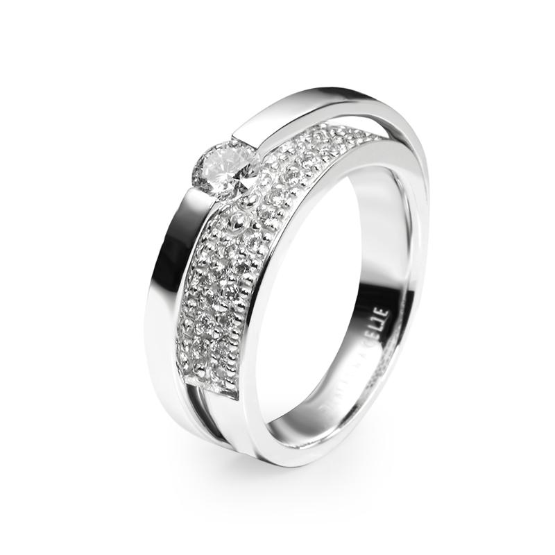 diamant 0,33 ct - 1x, 0,01 ct - 32x