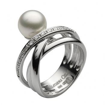 diamond 0,01 ct - 13 x;akoya pearl fi 8,5 - 9 mm - 1 x
