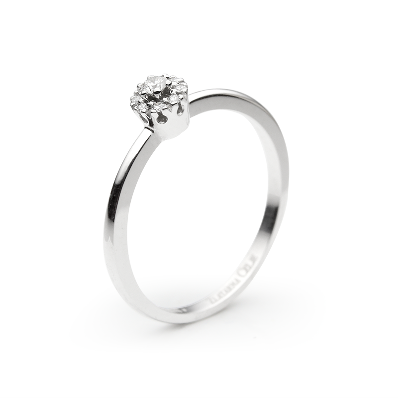 Diamant 0,05 ct - 1 x; 0,005 ct - 8 x