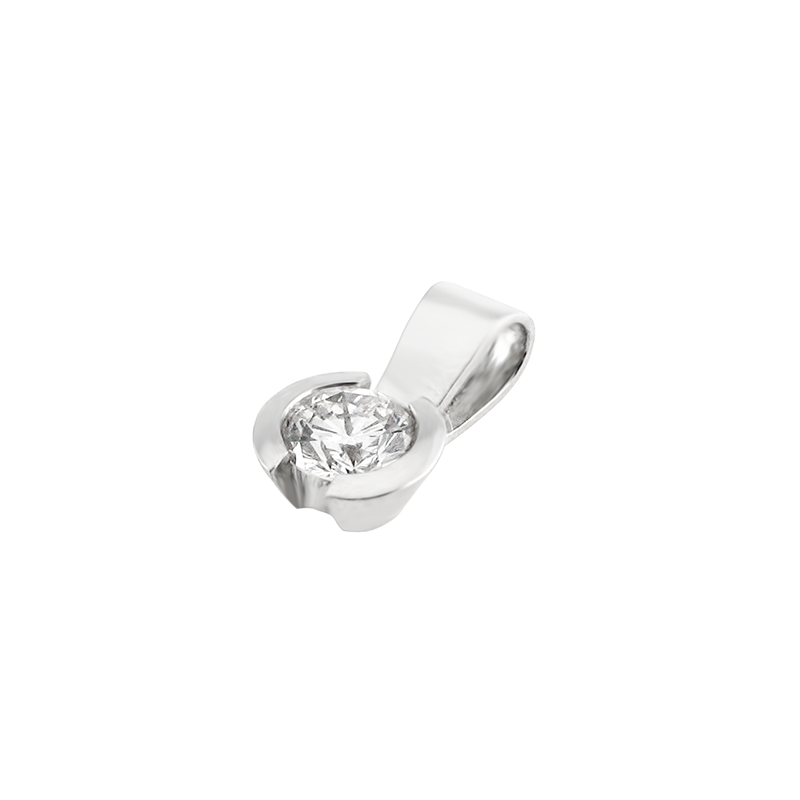 Pendant from the SOLITAIRE collection with a 0.5 ct. cut diamond for which indicative prices from EUR 3,200 apply. For the exact price fill out the online form, since the price depends on the purity and colour of the cut diamond.
