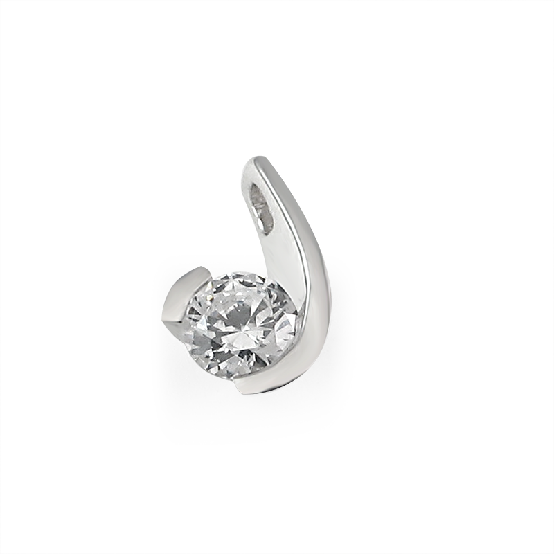 Pendant from the SOLITAIRE collection with a 1 ct. cut diamond for which indicative prices from EUR 10,700 apply. For the exact price fill out the online form, since the price depends on the purity and colour of the cut diamond.