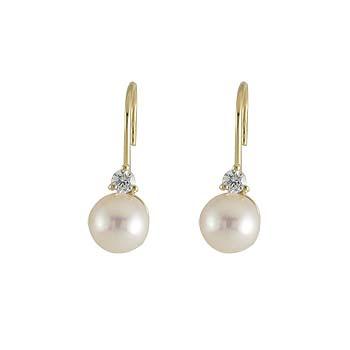 white pearl fi 6 mm - 2x white zircon fi 2,5 mm - 2x