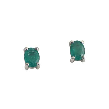 blue sapphire, emerald or ruby oval7 x 5 mm - 2 x