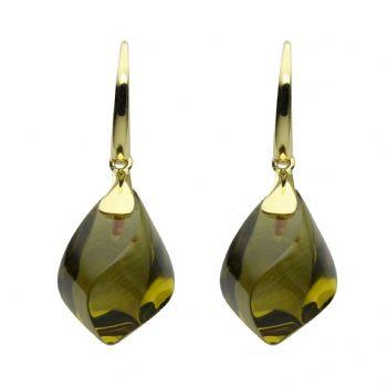 olive quartz 19 x 11,5 mm - 2x