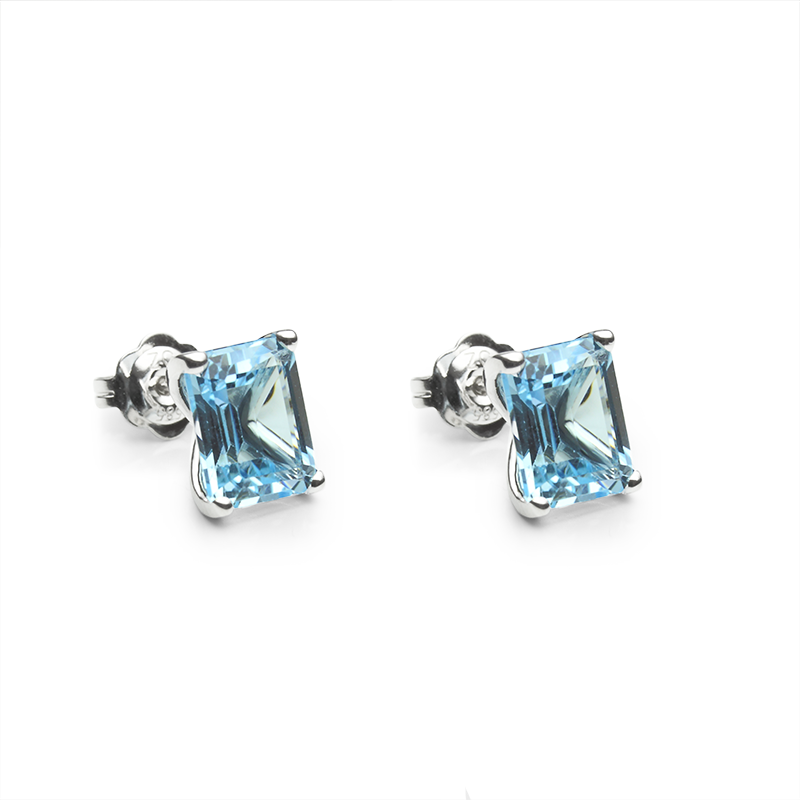 Blue Topaz10 x 8 mm - 2 x