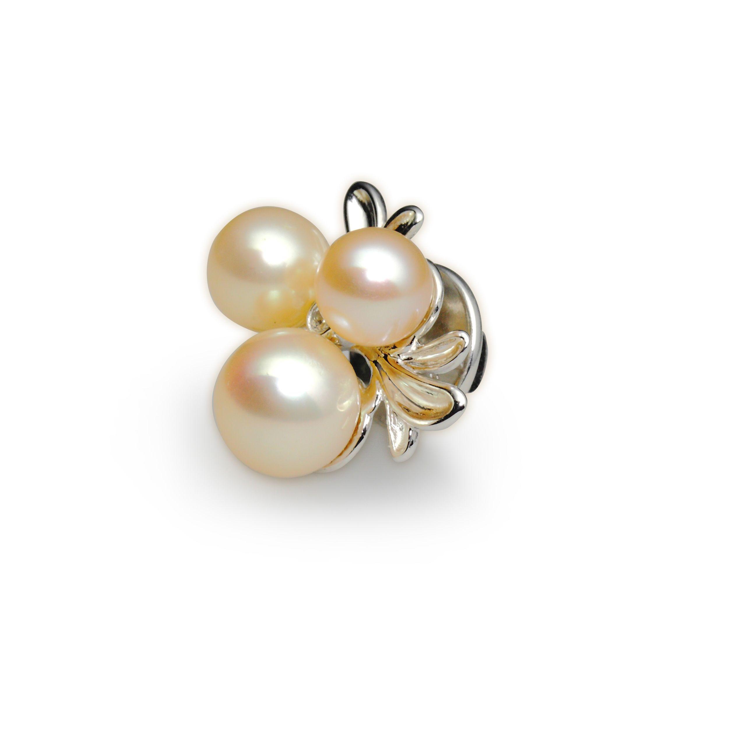 freshwater pearl 8,0-8,5 mm - 1x, 7,0-7,5 mm - 1x, 6,0-6,5 mm - 1x, zircon 1,75 mm - 1x