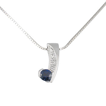 diamant 0,005 ct - 9 x; plavi safir 4 mm - 1 x