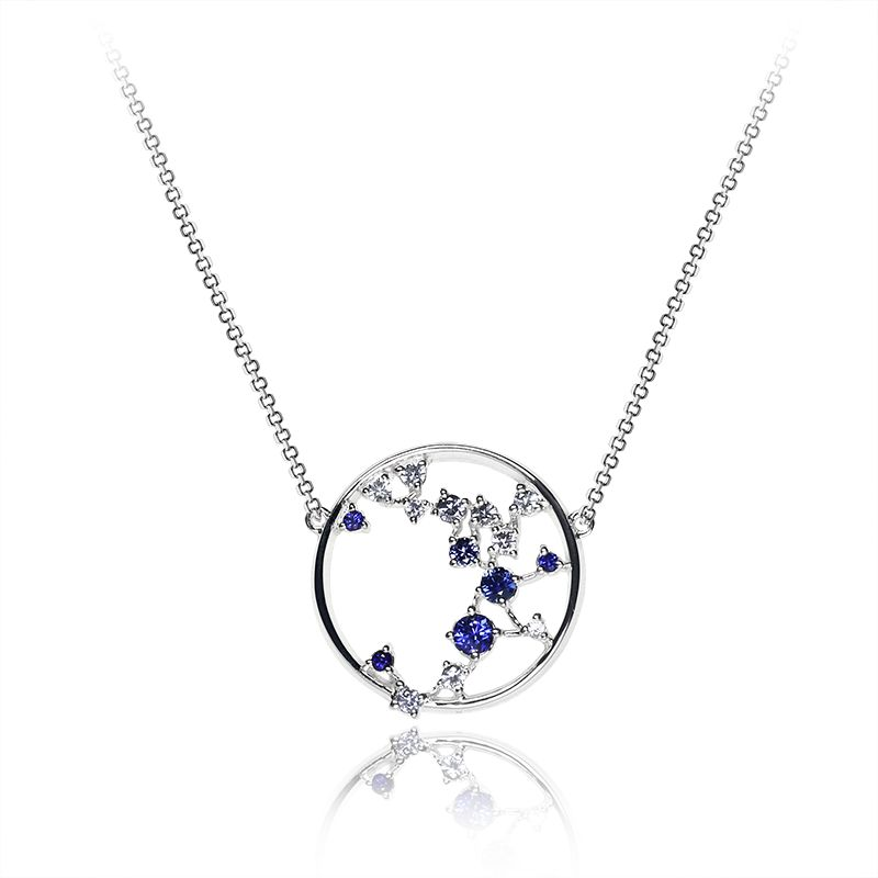 White and blue sapphire - 16 x