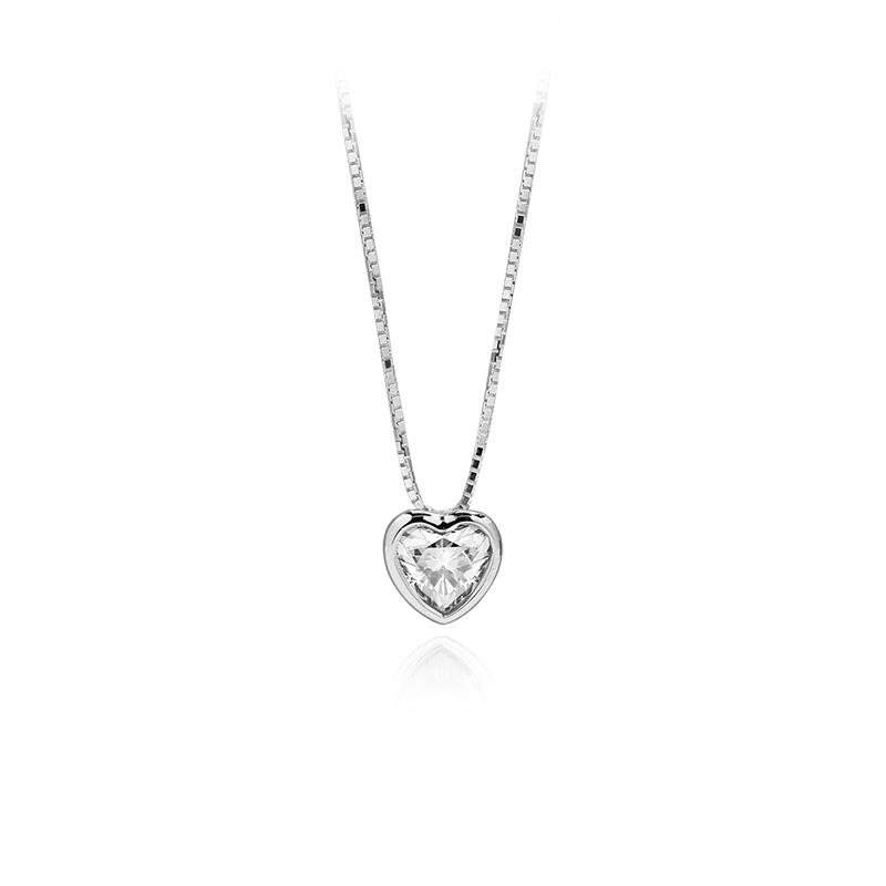 CZ heart 6 x 6 mm - 1 x